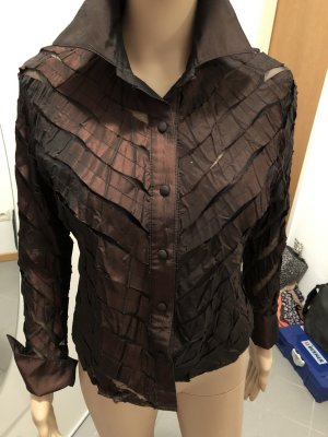 Transparent Blouse bronze-colored