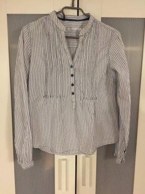 Bluse / Hemd Blau-weiß gestreift von only, 100% Baumwolle