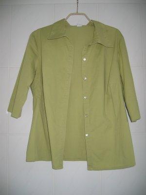 Bluse Hemd-Bluse Kurzarm-Bluse Gr. 38 grün Peter Hahn