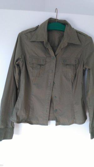 Bluse / Hemd figurbetont khaki / grün NEUWERTIG!