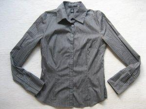 bluse hemd H&M business büro neu grau gr. 34 xs