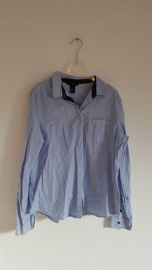 Bluse Hemd Hemdbluse Gr 42 H&M hellblau