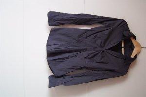 Bluse, Hemd in Dunkelgrau, Schiefergrau, mit Ersatzknopf in Größe XS
