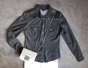Tally Weijl Jeans blouse antraciet-donkergrijs Katoen