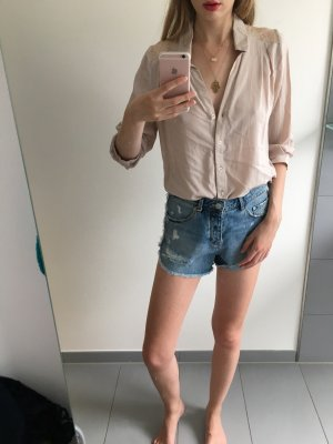 Bluse Hemd nude Puder h&m 36 Spitze