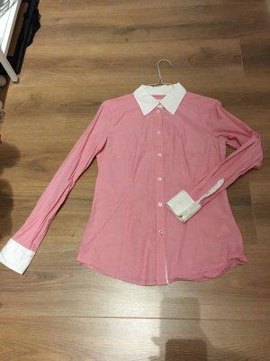 Bluse Hemd rosa weiß Esprit Oxford Manschetten 36 S