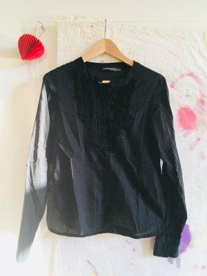 Bluse /Hemd ** schwarz mit Perlen ** ANTIK BATIK ** Gr. M