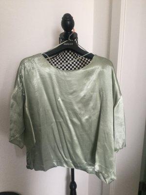 Bluse, Hemd, Shirt Fledermausarm, Gr. L Satin Schimmer Sommer 40 42 aber auch 38