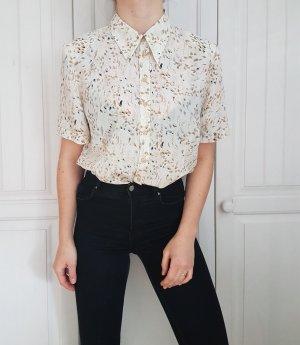 Bluse Hemd True Vintage Oversize weiß federn nude beige top cardigan