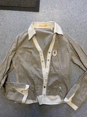 Biba Blusa-camisa blanco-gris claro