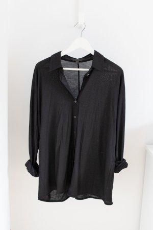 Bluse / Hemd von COS, Gr. L, Viskose, schwarz, NEU