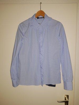 bluse / Hemd von hallhuber in Blau weiss gestreift