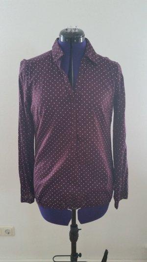Bluse Hemd von Montego weinrot Gr. 38 Versandkostenfrei