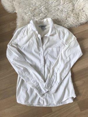 Bluse Hemd weiß Knöpfe business