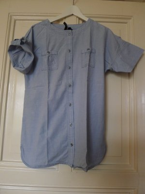 Bluse, Hemdbluse, Denim, in M