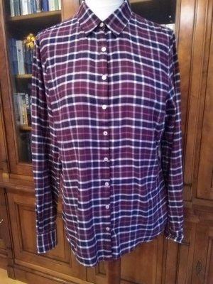 Bluse Hemdbluse von Tommy Hilfiger kariert 100% Baumwolle