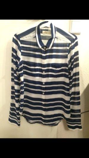 Bluse Hollister blau weiß Gr. S