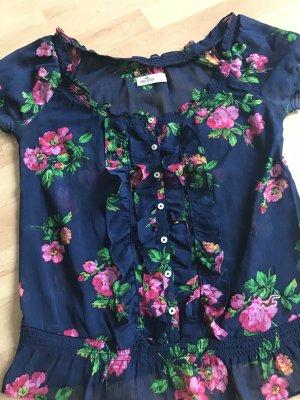 Bluse Hollister mit Blumen Rüschen