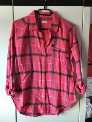 Bluse Hollister pink, grau, schwarz in Größe S