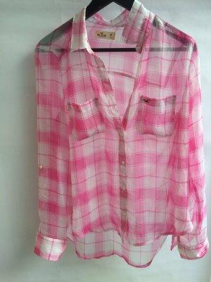 Bluse Hollister weiß rosa