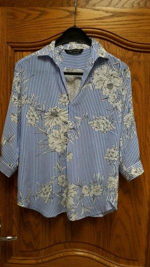 Bluse im angesagten Streifen/Blütenmix vom Zara! Neuwertig & ungetragen!