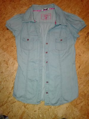 Bluse im Jeanslook