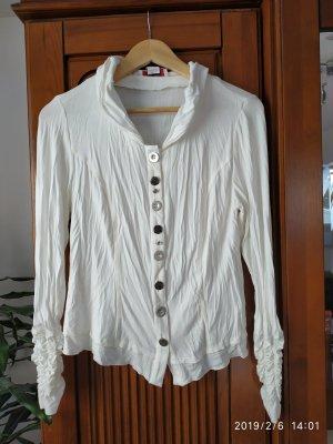 Linea Tesini Cuello de blusa blanco puro