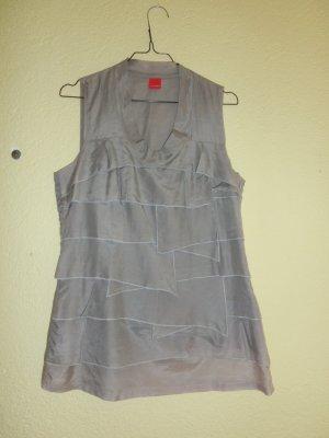 Bluse im Lagenlook und leichtem Silberschimmer