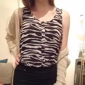 Bluse im Zebralook