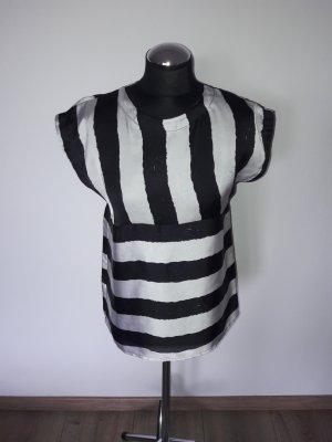 Bluse Imperial Gr. 36 schwarz weiß gestreift