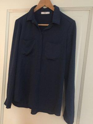 Bluse in dunkelblau, schöner Stoff, Gr. S von Mango