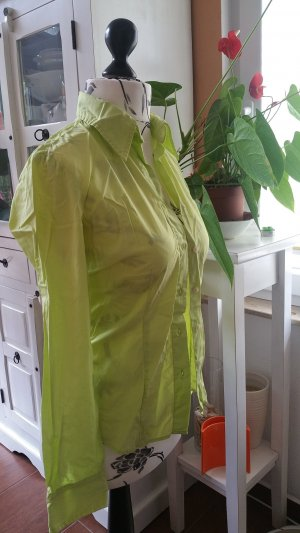 Benetton Hemdblouse limoen geel Katoen