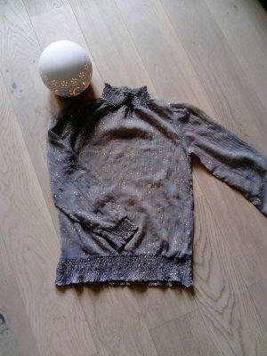 Bluse in Grau /Gold 38
