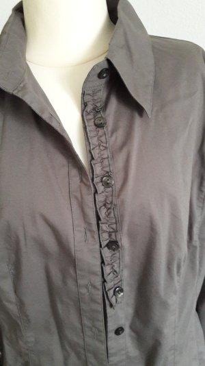 Street One Blusa de lino gris