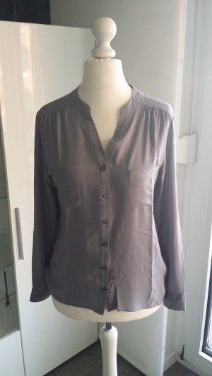 Atmosphere Blouse à col montant gris viscose
