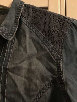Bluse in Jeansoptik