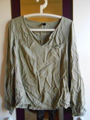 Bluse in Khaki in Größe S