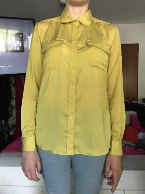 Bluse in knalligem Gelb