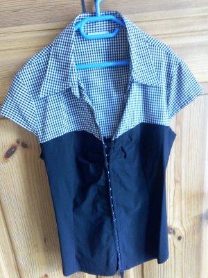 Bluse in Korsageoptik