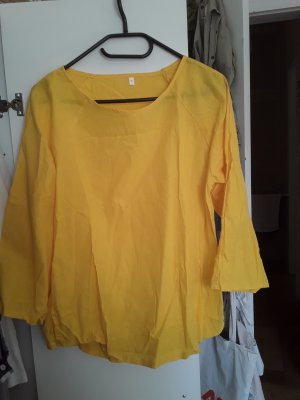 Linen Blouse yellow polyester