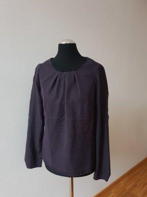 Bluse in mattem Trendmaterial
