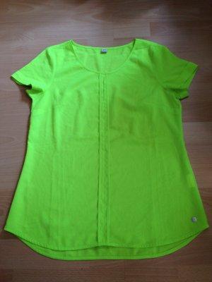 Bluse in Neon gelb/grün