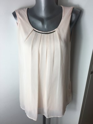 Bluse in nude silber