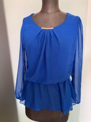 Fashion concept Slip-over Blouse blue