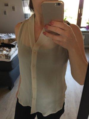 Mouwloze blouse wolwit