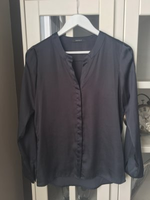 Esprit Blusa brillante gris antracita-gris oscuro