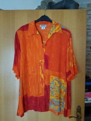 Bluse in schönen sommerlichen Farben # Viskose# XL