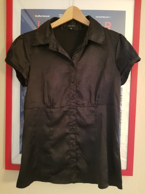 Bluse in Schwarz Glänzend von Amisu Gr. M