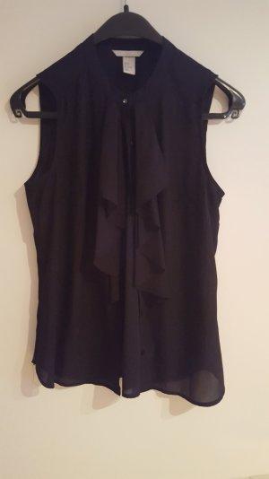 Bluse in schwarz mit volant von h&m