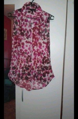 Bluse in schwarz pink